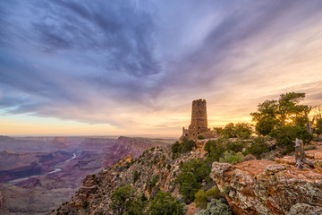 Desert View Watchtower on the Grand Canyon