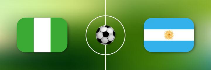 Fußball - Nigeria gegen Argentinien