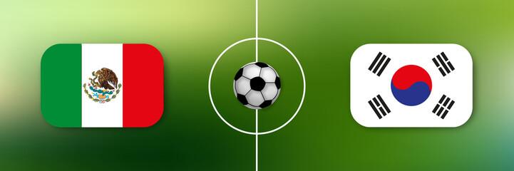 Fußball - Mexiko gegen Südkorea