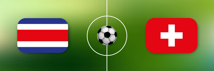 Fußball - Costa Rica gegen Schweiz