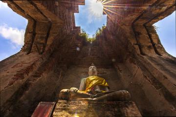 アユタヤ近郊の遺跡プラサートナコンルアンの仏像