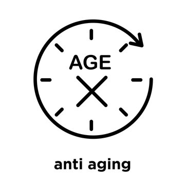anti aging icon isolated on white background