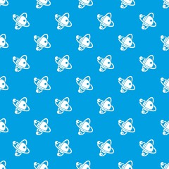 Molecule dna pattern vector seamless blue repeat for any use