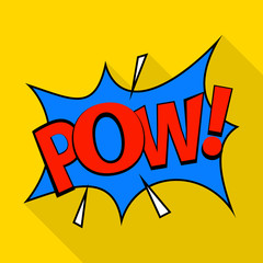 Pow icon. Pop art illustration of pow vector icon for web
