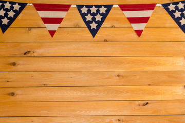 Patriotic Stars and Stripes American bunting
