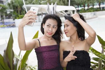 Filipina Girl Frienda Taking Selfie
