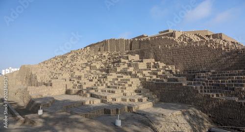 huaca pucllana or huaca juliana a great adobe and clay pyramid