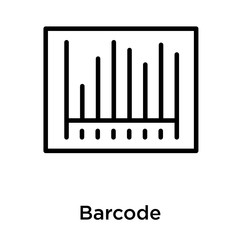 Barcode icon isolated on white background