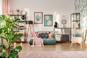 Designer sofa in living room