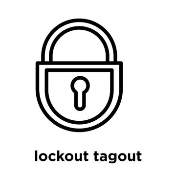 lockout tagout icon isolated on white background