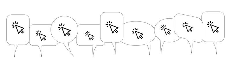 Sprechblasen - Mauszeiger