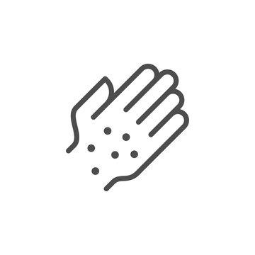 Rash line icon
