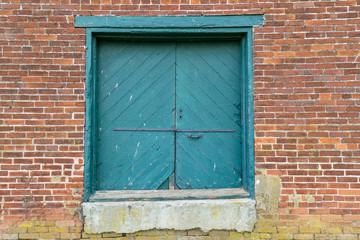 Old Warehouse Loading Door and Brick Wall