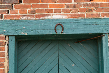 Horse Shoe on Old Door Frame