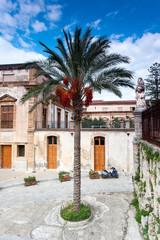 Cefalu, Sicily. Piazza del Duomo. Main square. Italy.