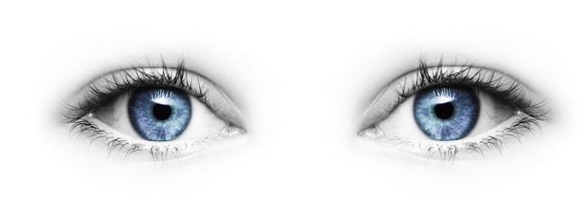 Blaue Augen Fotoväggar