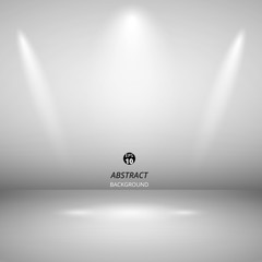 Abstract of spotlight presentation on black background, vector eps10
