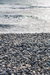 Fototapete - Cobble stone beach