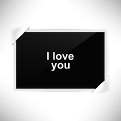 Foto Rahmen Querformat - Foto - Ich liebe dich
