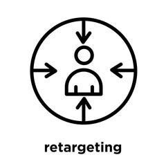 retargeting icon isolated on white background