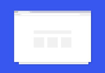 Flat Web Browser Mockups