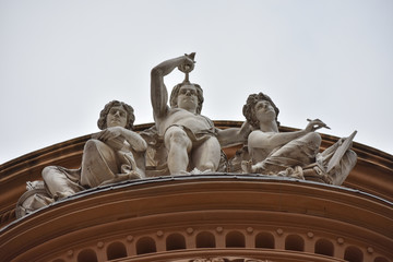 Statue of architecture in the city.