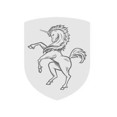 Vector image of heraldic unicorn.
