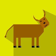 creative, minimalistic cow in EPS10