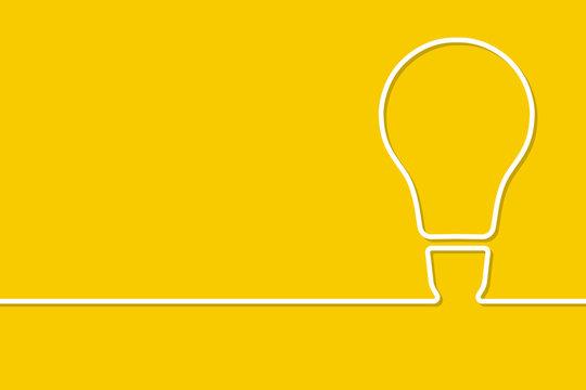Знак лампочки, идеи выполненные в лини-арте. Векторная иллюстрация.