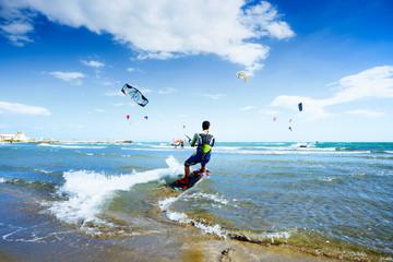 Playa de Puerto de Cabo Pino, Marbella, Andalusia, Spain