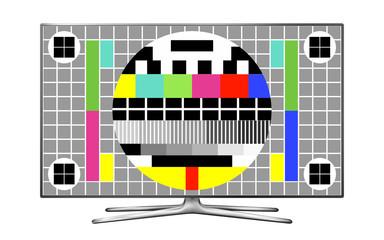 TV test pattern screen