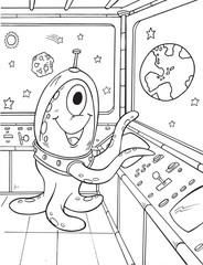 Alien Outer Space Vector Illustration Art