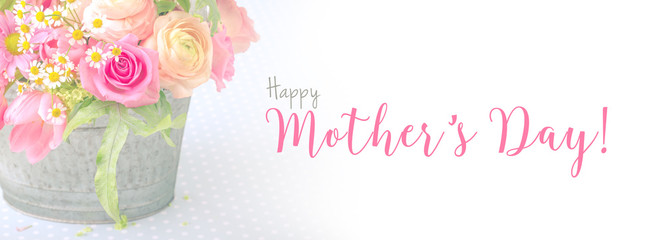 Happy Mothers Day  Background  -- Greeting Card  --  Panorama, Banner