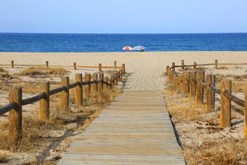 Papier Peint - playa sombrillas pasarela almería U84A8890-f18