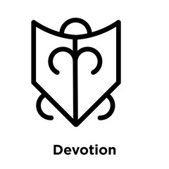 Devotion icon isolated on white background