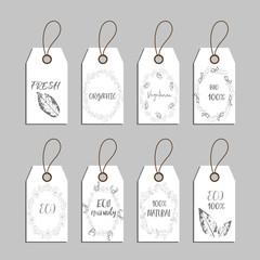 Elements collection for food market labels.