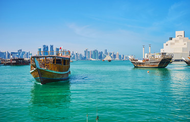 The floating dhow, Doha, Qatar