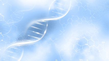 DNA strand abstract illustration