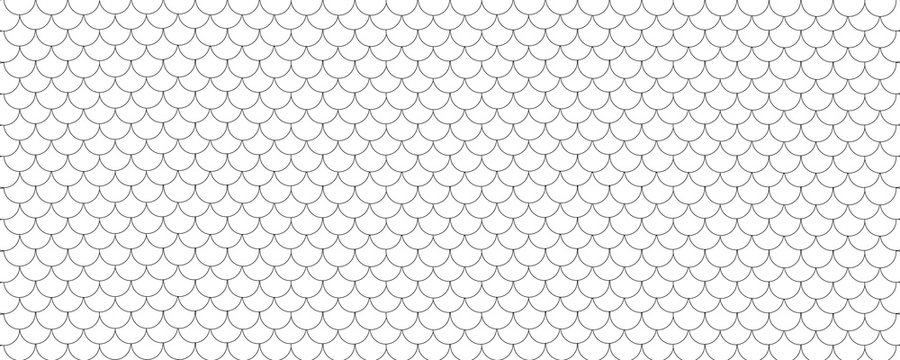 Fish scale pattern background, black and white