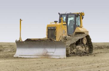 bulldozer at a construction site