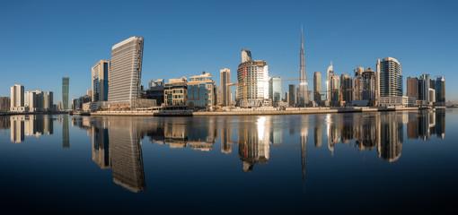 Reflection of Dubai Skyline UAE