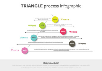 Infographic Layout with Triangular Element