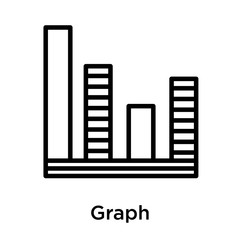 Graph icon isolated on white background