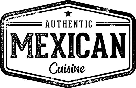 Authentic Mexican Restaurant Cuisine Stamp