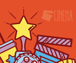 Cinema cartoons design