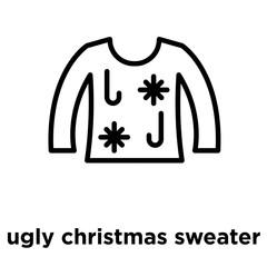 ugly christmas sweater icon isolated on white background