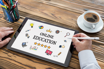 Online Education Concept On Digital Tablet Screen