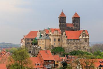 Schlossberg mit Stiftskirche St. Servatius in Quedlinburg in Sachsen-Anhalt