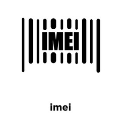 imei icon isolated on white background