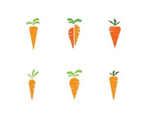 carrot ilustration logo vector